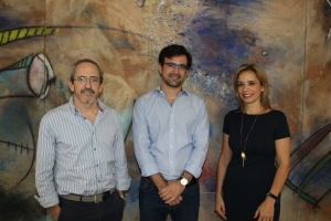 Carlos Domínguez Palacios, Joaquín Bernal Méndez y Mª de los Ángeles Martín Prats